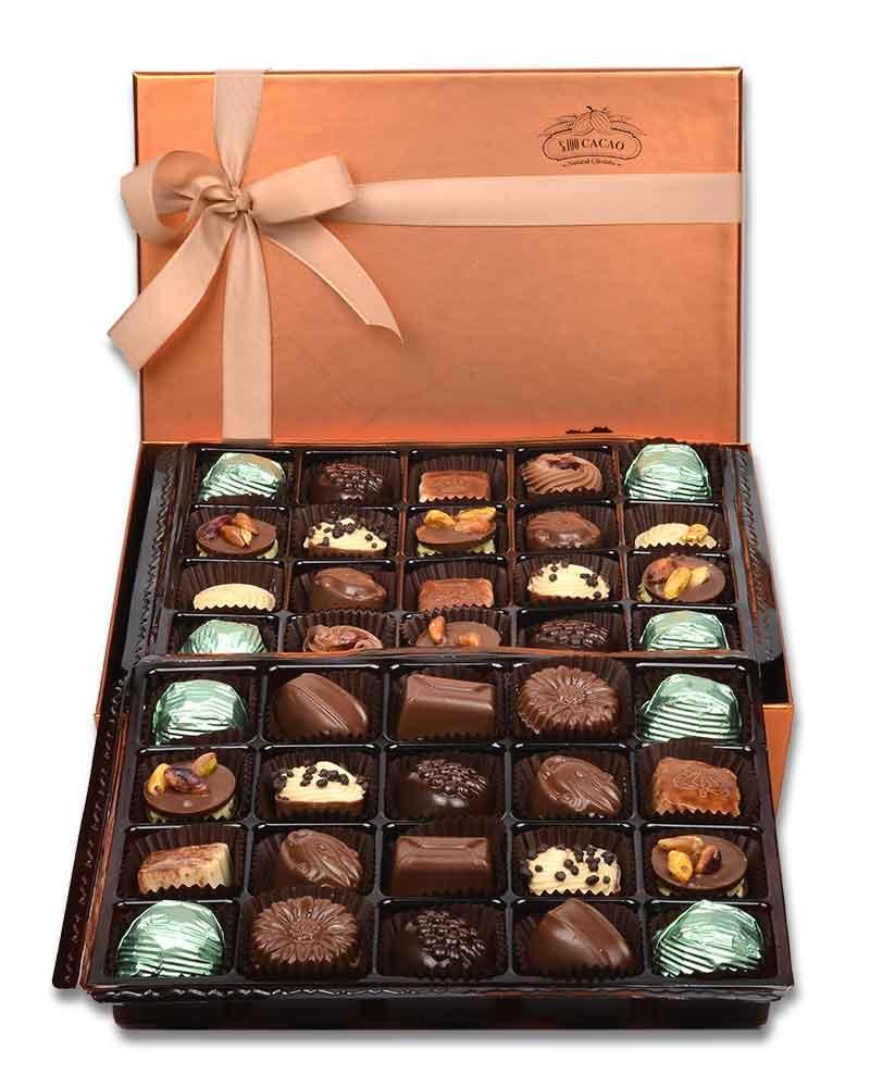 Bakır 40'lı Çikolata Kutusu