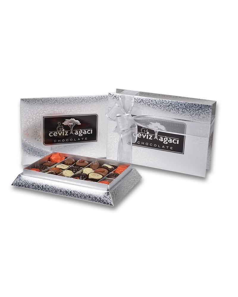 Gümüş Konik Küçük Çikolata Kutusu