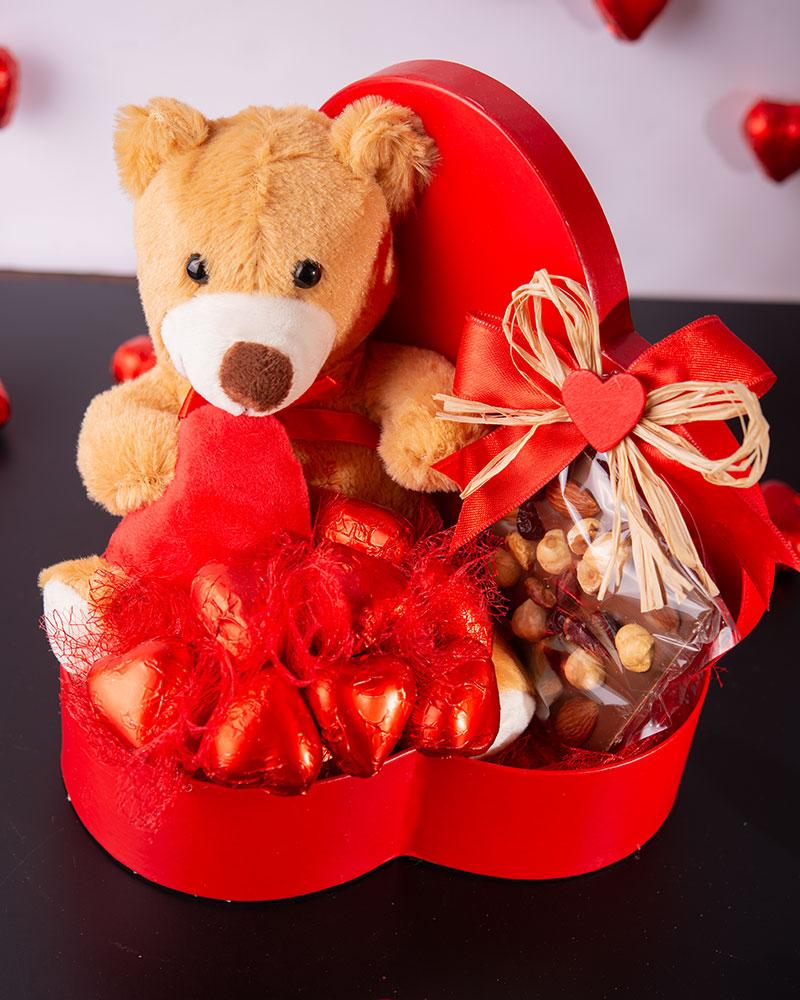 Sevgililer Günü Kalp Çikolata Kutusu   1