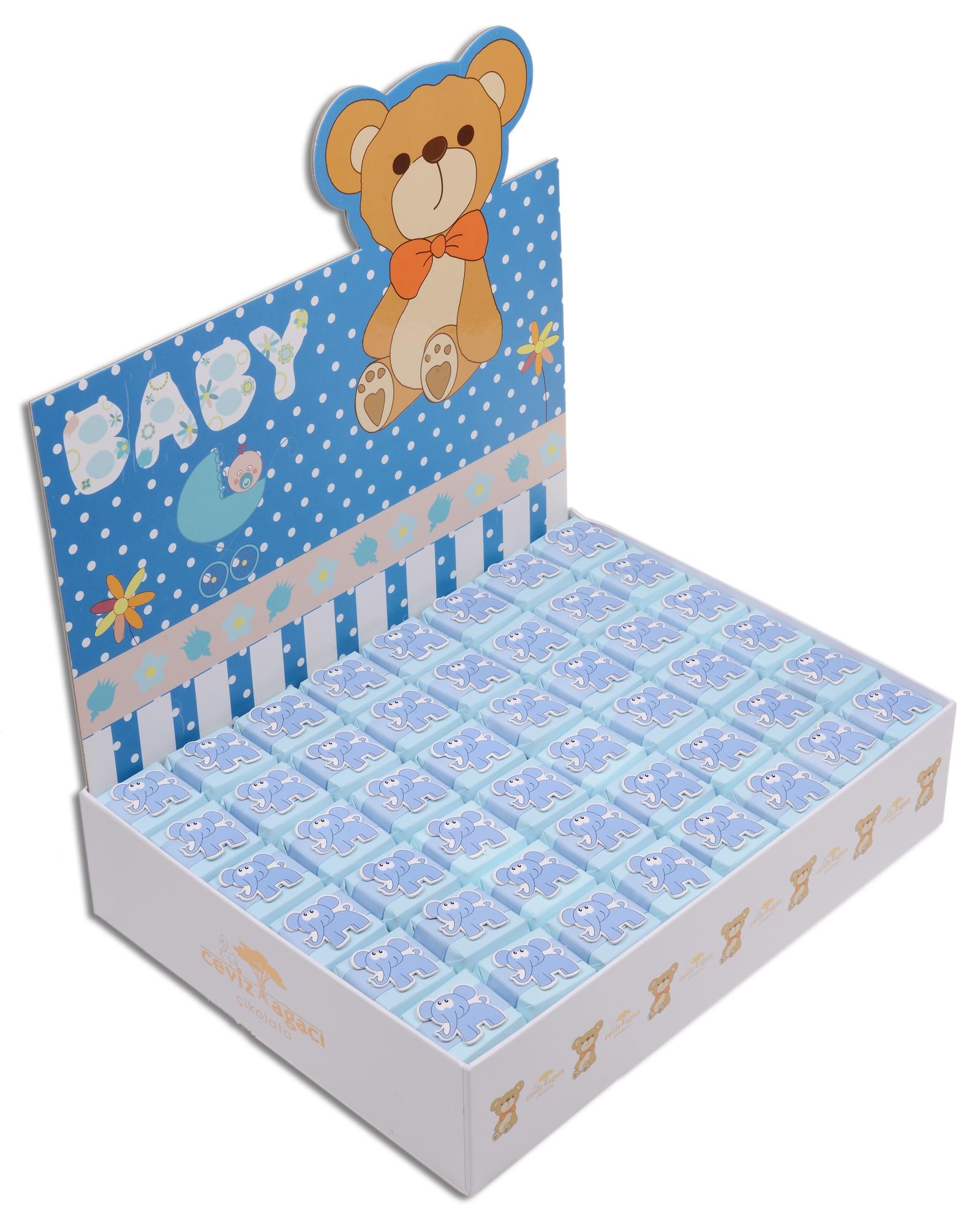 Mavi Kutulu Erkek Bebek Çikolatası  1