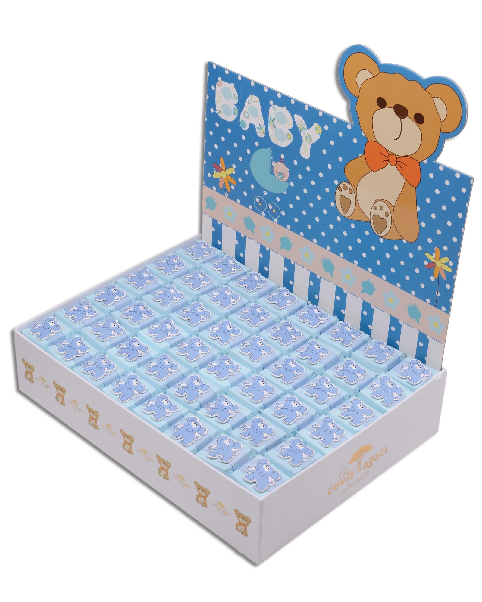 Mavi Kutulu Erkek Bebek Çikolatası  2