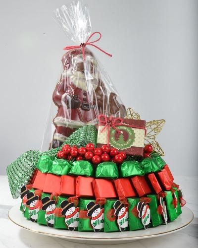 4'lü Noel Baba Hediyelik Yılbaşı Çikolatası 1