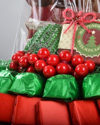 4'lü Noel Baba Hediyelik Yılbaşı Çikolatası 3