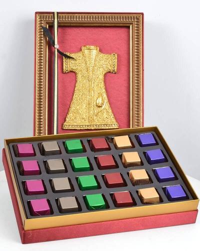Altın Kaftan 24'lü Bordo Çikolata Kutusu 1
