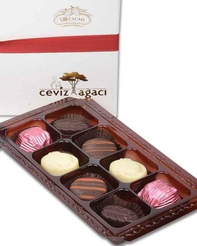 İki Katlı Beyaz Çikolata Kutusu 3