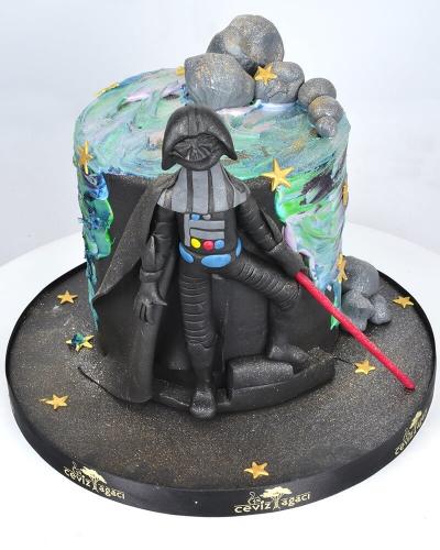 Dart Vader Star Wars Doğum Günü Pastası 1
