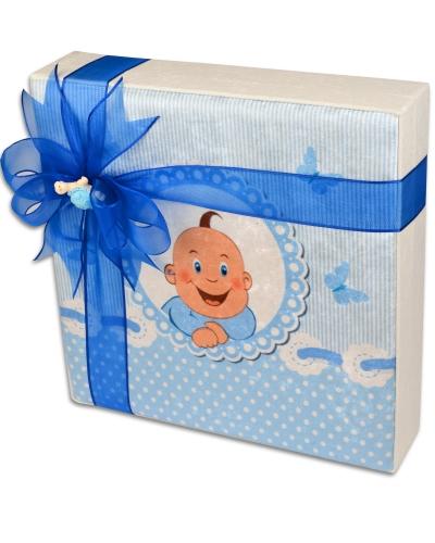 Kadife Kutu Erkek Bebek Çikolatası 3