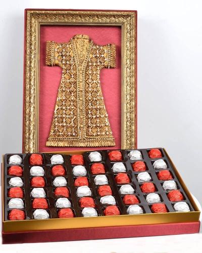 Kaftan 48'li Bordo Çikolata Kutusu 1