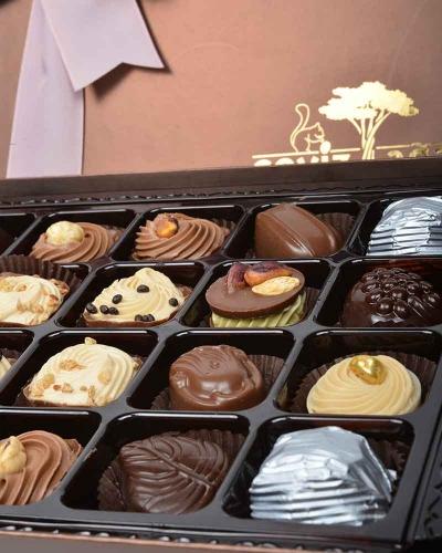 Kahverengi 24'lü Çikolata Kutusu 3
