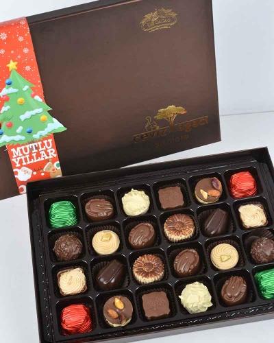 Kahverengi 24'lü Yılbaşı Çikolatası 4