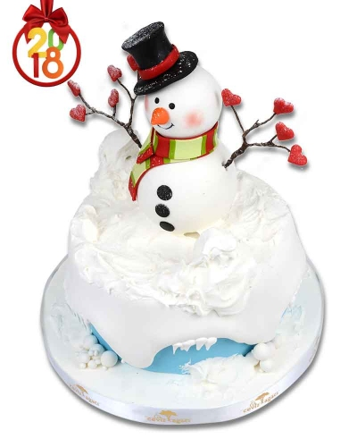 Kardan Adam Yılbaşı Pastası 1