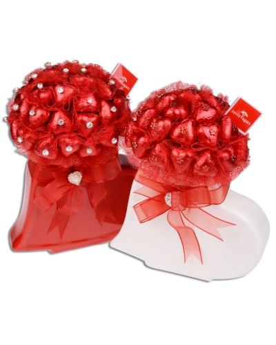 Kırmızı Beyaz Kalp Sevgililer Günü Hediyesi 2