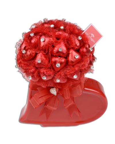 Kırmızı Beyaz Kalp Sevgililer Günü Hediyesi 3