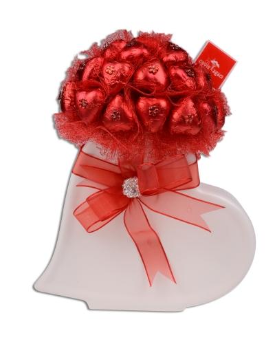 Kırmızı Beyaz Kalp Sevgililer Günü Hediyesi 4