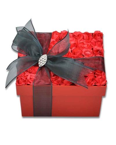 Kırmızı Gül Kapaklı Çikolata Kutusu 2
