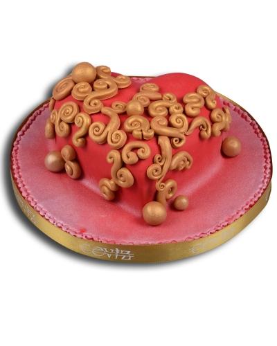 Kırmızı Kalp Doğum Günü Pastası 1