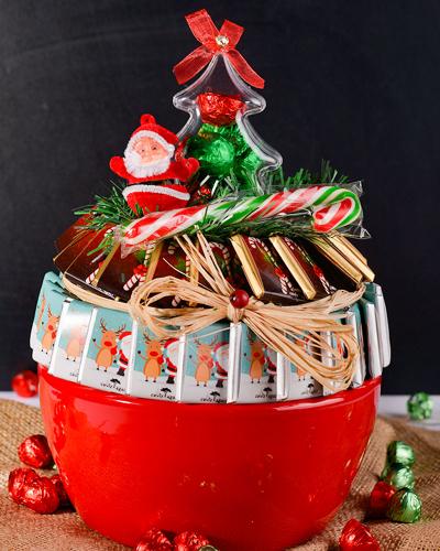 Kırmızı Kase Noel Çikolata