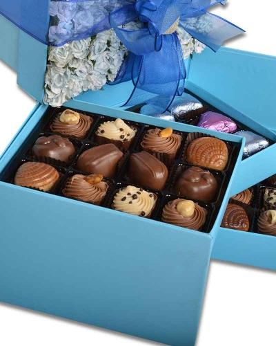 Mavi Gül Kapaklı Yılbaşı Çikolatası 3