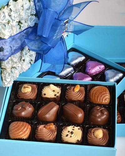 Mavi Gül Kapaklı Yılbaşı Çikolatası 4