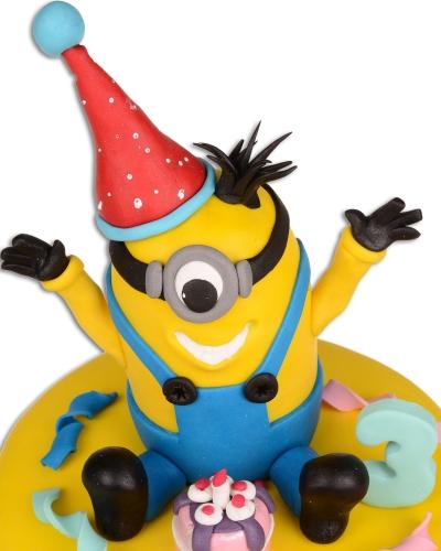 Minnion Karnaval Doğum Günü Pastası 2