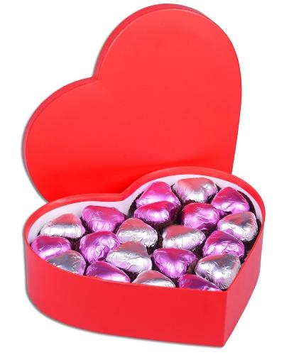 Mor Kalpli Kırmızı Sevgiliye Çikolata Kutusu 2