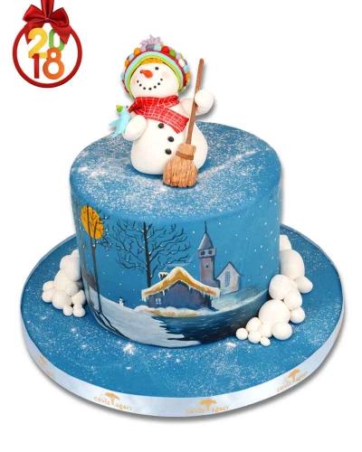 Neşeli Kardan Adam Pastası 4