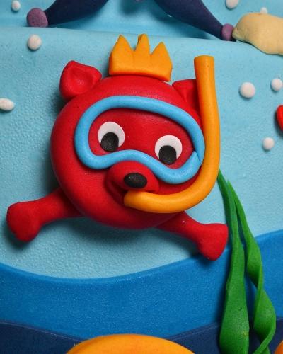 Okyanus Canlıları Pastası 3
