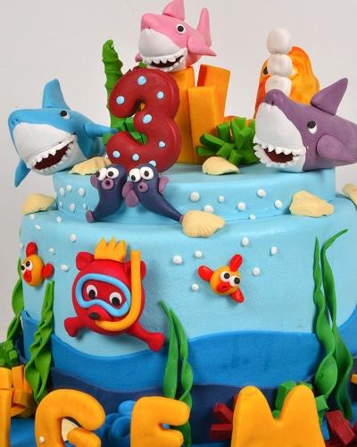 Okyanus Canlıları Pastası 4