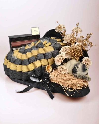 Siyah Orkide Söz Nişan Çikolatası 1