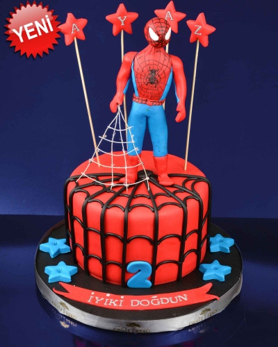 Spiderman 2 Doğum Günü Pastası 1
