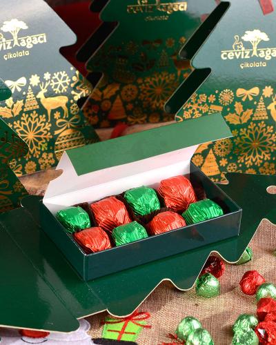 Yeşil Çam Ağacı Yılbaşı Çikolatası 3
