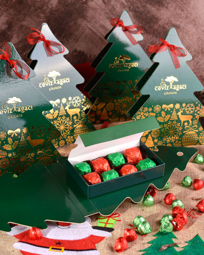Yeşil Çam Ağacı Yılbaşı Çikolatası 4
