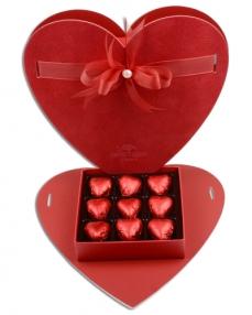 Alcantara Kalp Çikolata Kutusu