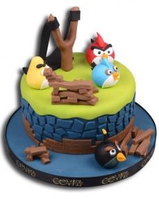 Angry Birds Sapanlı Doğum Günü Pastası