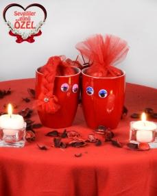 Aşık Kupalar Sevgililer Günü Hediyesi  0