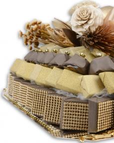 Bakır Gondol Söz Nişan Çikolatası