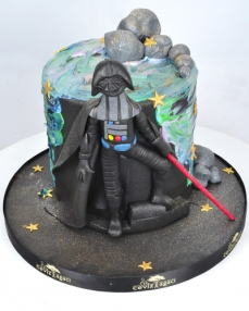 Dart Vader Star Wars Doğum Günü Pastası  0