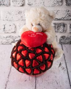 Ayıcık Sevgililer Günü Çikolatası  0