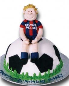 Futbolcu Doğum Günü Pastası  0