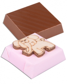 Gülen Fil Figürlü Kız Bebek Çikolatası  1