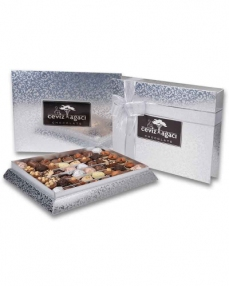 Gümüş Konik Çikolata Kutusu  0