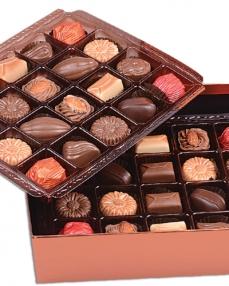 İki Katlı Bakır Bayram Çikolatası