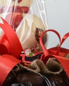 İkiz Noel Baba Yılbaşı Çikolatası  2