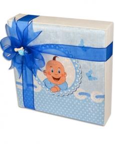 Kadife Kutu Erkek Bebek Çikolatası  2