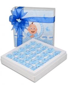 Kadife Kutu Erkek Bebek Çikolatası  0