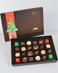 Kahverengi 24'lü Yılbaşı Çikolatası  0