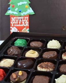Kahverengi 24'lü Yılbaşı Çikolatası  1