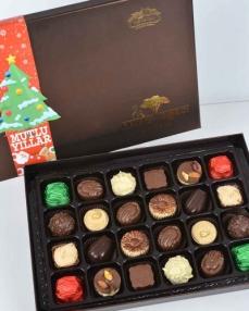 Kahverengi 24'lü Yılbaşı Çikolatası  3