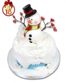 Kardan Adam Yılbaşı Pastası  0