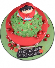Kırmızı Başlıklı Kız Doğum Günü Pastası